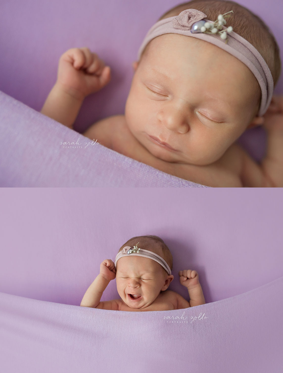 lavender newborn girl
